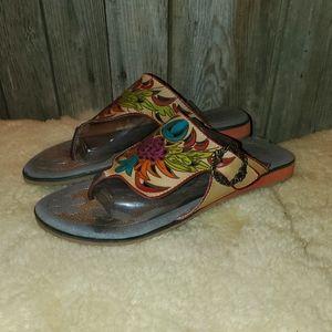 Spring Step L'Artiste Poetic Thong Sandals 41